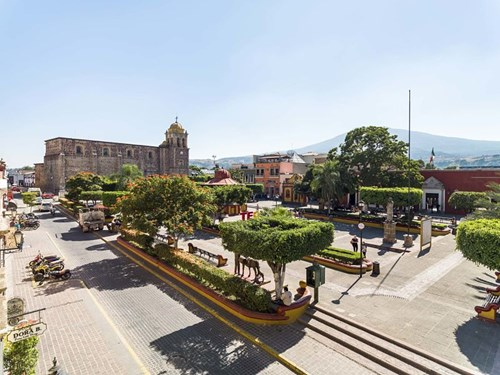Plaza central del Pueblo Mágico de Tequila
