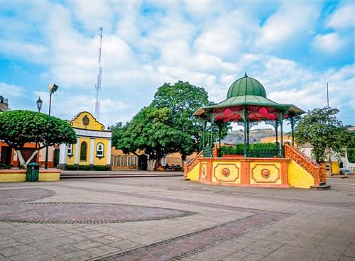 Quiosco típico mexicano en el Pueblo Mágico de Tequila, Jalisco.